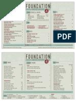 Foundation Social Eatery Menu