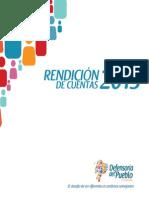 INFORME RENDICIÓN DE CUENTAS. 2013