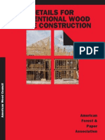 Details for Conventional Wood Frame Construction (1)