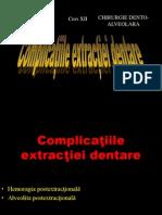 Curs 12 Extractia Dentaracomplicatii