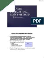 Business Forecasting_Naive Method