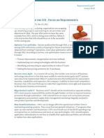 2012 Priorities for the CIO - Focus on Requirements