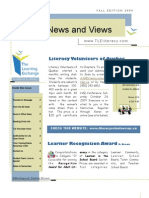 2009 TLE Newsletter Fall Edition