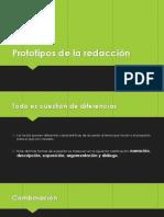 Prototipos de la redacción