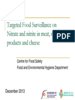 2013 Nitrate and Nitrite in Meat Meat Products and Cheese
