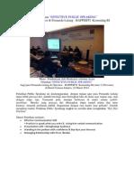 """Pelatihan """"EFFECTIVE PUBLIC SPEAKING"""" bagi para Operator & Pemandu Lelang - BAPPEBTI  Kemendag RI"""