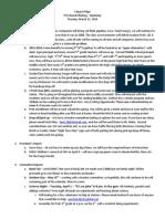 Summary PTA Board Minutes 3-11-2014