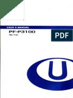 Standard Horizon PF3100 Paper Folder Operators Manual