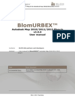 BlomURBEX AutodeskMap 2010-11-12 Plug-In 3.0 - User Manual