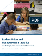 Teachers Unions and Management Partnerships