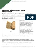 Avances tecnológicos en la Antigüedad _ Historia de la tecnología _ Icarito