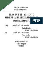 Program Audiente S C J E O P