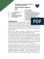 PLAN ANUAL DE TRABAJO DESNA I.E.Nº 20480 SANTA CATALINA