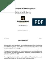 Cryptanalysis of Hummingbird-1