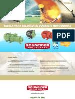 TABELA SELEÇÃO BOMBAS SCHNEIDER