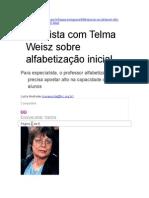 Telma Weisz - Entrevista