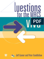 Questions for the MRCS Vivas