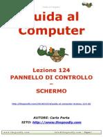 Guida al Computer - Lezione 124 - Pannello di Controllo - Schermo