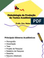 Metodologia Da Producao de Textos Academicos