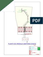 Propuesta de Drenaje de Aldea El Pinal-PLANTA EXISTENTE