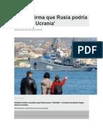Amenaza Rusa a Ucrania