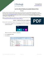 Configuring Windows 8 Public Ports