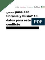 Resumen Conflicto Rusia-ucrania