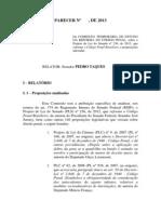 Relatório final da proposta de Reforma do Código Penal apresentada pelo senador Pedro Taques