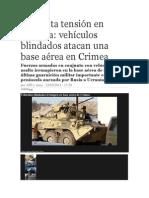 Vehiculos Blindados Atacan Crimea