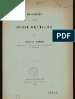Adolphe Monod - Discours Sur Le Debit Oratorie (1908)