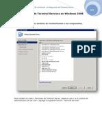 Instalación de Terminal Services en Windows 2008