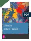 Relation Client Satisfaction Fidelisation