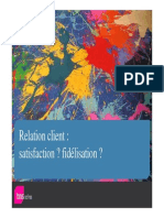 Relation Client Satisfaction Fidelisation