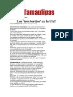 21-03-2014 Hoy Tamaulipas - Los 'tres toritos' en la UAT.