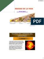 CLASE 1 Diversidad Vida Biología Celular Alimentos 2014-I