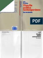 Kymlicka, Will - Filosofia politica contemporanea. Una introducción