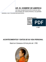 Vida y Obra de Simon Bolivar