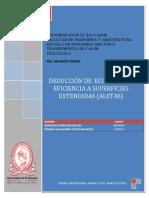 DEDUCCIÓN DE  ECUACIÓN DE EFICIENCIA A SUPERFICIES EXTENDIDAS (ALETAS)