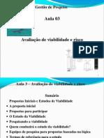 Aulalex 3 - Avaliacao de Viabilidade e Risco