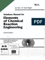 Fogler 4ed - Solution Manual