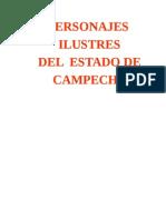 Personajes Ilustres de Campeche
