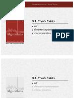 Slides 31ElementarySymbolTables