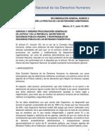 Recomendacion CNDH Ante Detencion Ilegal