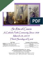 St. Rita Parish Bulletin 3/23/2014