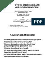 SESI 2 BPPT Mapping Potensi Bioenergi BPPT