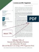 #1 Kenyan Marathon Runners Are 99% Vegetarian - Anti-paleo
