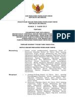 Perbawaslu No. 2 Tahun 2013 Tentang Organisasi Dan Tata Kerja Setjen Bawaslu