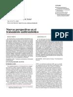 Nuevas perspectivas en el tratamiento antitrombótico