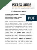 Divórcio Extrajudicial - Minuta de escritura pública.doc