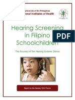Hearing Screening in Filipino Schoolchildren